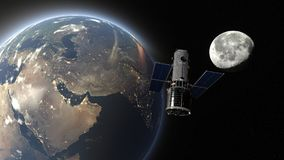 Artificial satellite. 3D CG rendering of the artificial satellite Royalty Free Stock Photos