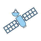 Artificial satellite spacial icon Royalty Free Stock Images