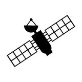 Artificial satellite spacial icon Stock Images