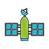 Artificial satellite spacial icon Royalty Free Stock Photography