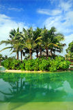 Artificial sea in resort bali style Royalty Free Stock Image