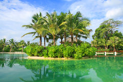 Artificial sea in resort bali style Stock Photography