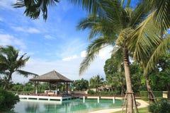 Artificial sea in resort bali style Stock Photos