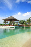 Artificial sea in resort bali style Royalty Free Stock Images