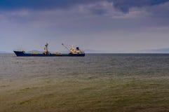 Artificial Shoreline Construction Evening Stock Photo