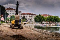 Artificial Shoreline Consturction Stock Photography