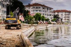 Artificial Shoreline Consturction Stock Photos