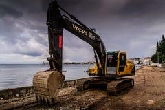Artificial Shoreline Consturction Royalty Free Stock Images