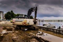 Artificial Shoreline Consturction Stock Photo