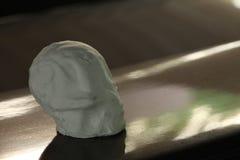 Artificial skull scene. stock photo