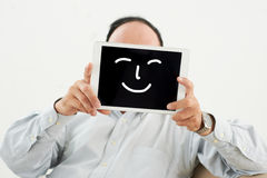 Artificial smile royalty free stock photography