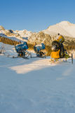 Artificial snow machine Stock Photography