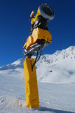Artificial Snow machine - snow gun Royalty Free Stock Images