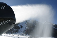Artificial snow system Stock Images