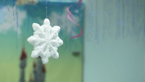 Artificial snowflake stock video footage
