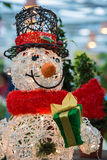 Artificial Snowman Yard Display Stock Images