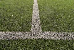 Artificial soccer field Stock Photo
