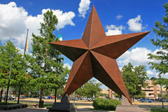 Artificial star decorated in Austin city Royalty Free Stock Photos