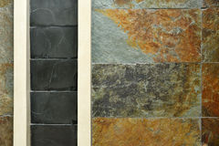 Artificial stone wall texture and background Royalty Free Stock Photography