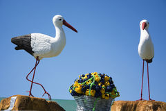 Artificial storks Royalty Free Stock Images