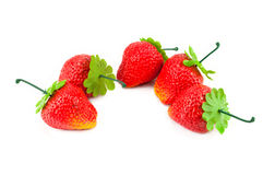 Artificial strawberries Stock Images