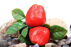 Artificial strawberries Stock Photography