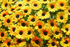 Artificial sunflower for garden decoration Stock Photo