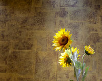 Artificial sunflower Stock Image