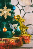 Artificial Tree Decorated With Toys Stock Photo
