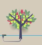 Artificial tree with light bulbs Stock Photos