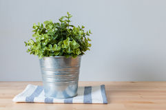 Artificial tree in pot Royalty Free Stock Image