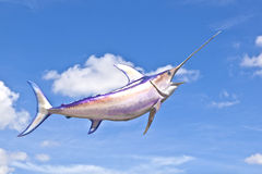Artificial Tuna fish under blue sky Stock Photography