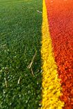 Artificial turf. On a tennis court Stock Image