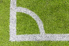 Artificial turf conner with white line Royalty Free Stock Images