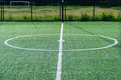 Artificial turf football field Stock Photography