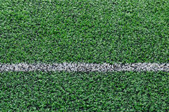 Artificial turf football field Royalty Free Stock Photography