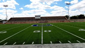 50 yard line of local football field royalty free stock photos