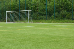 Artificial turf - goal. Area and goal Stock Image