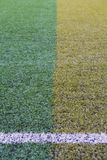 Artificial turf pattern with a line Royalty Free Stock Image