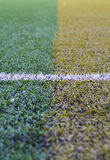 Artificial turf pattern with a line Stock Photos