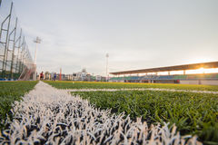 Artificial turf pattern and stadium Royalty Free Stock Photography