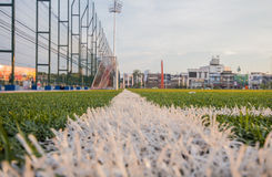Artificial turf pattern and stadium Stock Photo