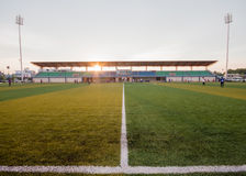 Artificial turf pattern and stadium Stock Images