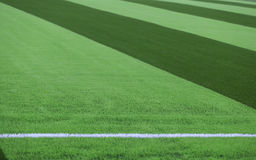 Artificial turf soccer field Royalty Free Stock Image