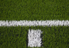 Artificial turf soccer field Stock Photo