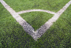 Artificial turf soccer field Stock Photos