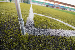 Artificial turf soccer field Royalty Free Stock Photography
