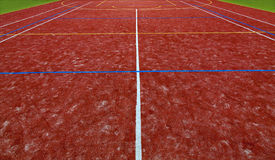Artificial turf on a sports field Royalty Free Stock Image