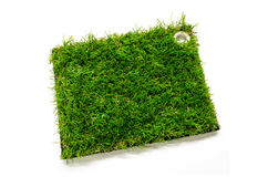 Artificial turf tile Royalty Free Stock Photos
