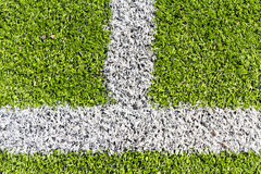 Artificial turf with white line Royalty Free Stock Image